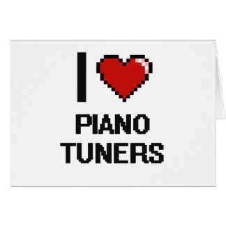 I love Piano Tuners Note Card