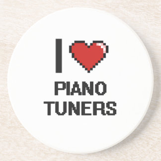 I love Piano Tuners Drink Coasters