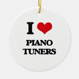 I Love Piano Tuners Christmas Tree Ornament