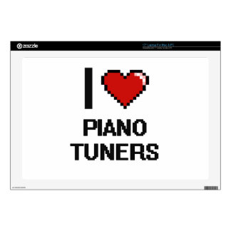 "I love Piano Tuners 17"" Laptop Decals"
