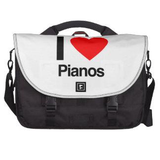 i love pianos computer bag
