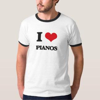 I Love Pianos T-shirts