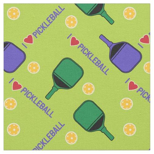 I love pickleball fresh green custom size fabric