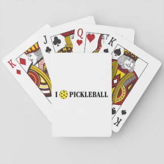 I Love Pickleball Playing Cards