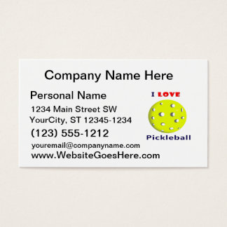 i love pickleball red text pickleball graphic.png business card