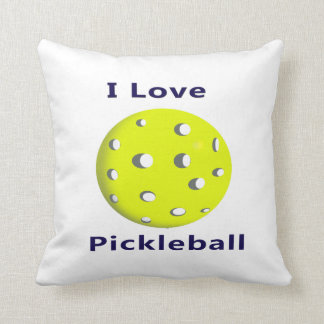 I love pickleball w yellow ball.png throw pillow