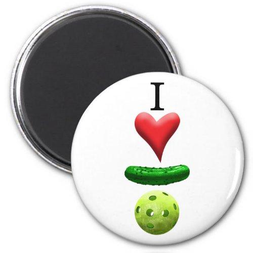 I Love Pickleball _ White _ Magnet