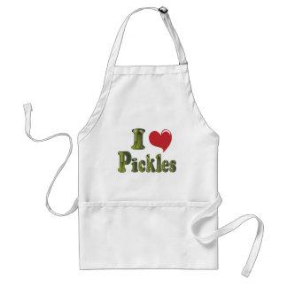 I Love Pickles Adult Apron