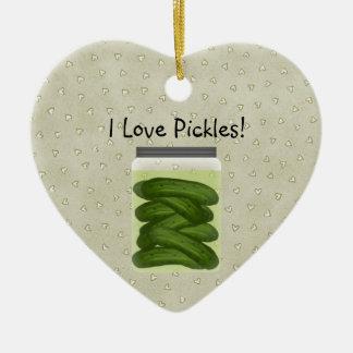 I Love Pickles Christmas Ornament