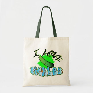 I Love Pickles Grocery Tote Tote Bags