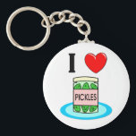 "I Love Pickles Keychain<br><div class=""desc"">I Love Pickles - this cute and funny pickles design is perfect to show your fun side!  It&#39;s sure to bring a smile to many faces!</div>"