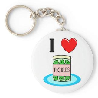 I Love Pickles Keychain
