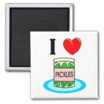 I Love Pickles Refrigerator Magnet