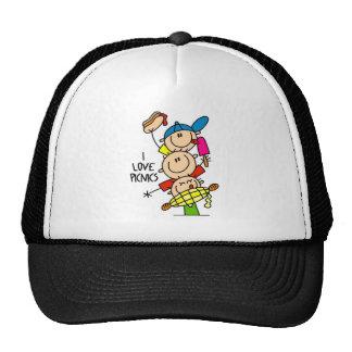 I Love Picnics Hats