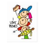 I Love Picnics Post Card