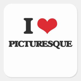 I Love Picturesque Square Sticker