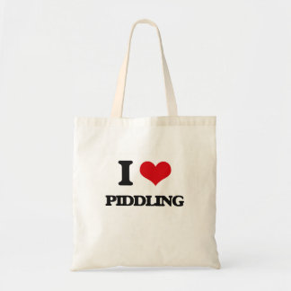 I Love Piddling Tote Bags