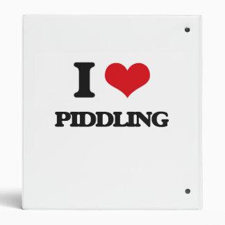 I Love Piddling Vinyl Binders