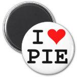 I love pie (black lettering) 2 inch round magnet