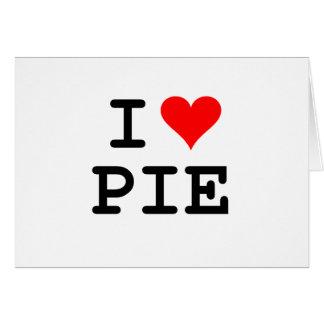 I love pie (black lettering) greeting card