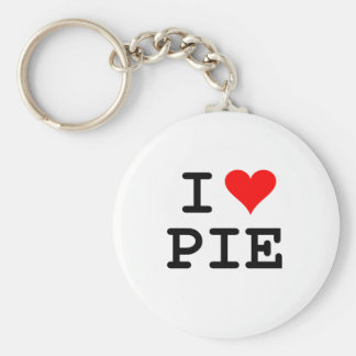 I love pie (black lettering) keychain