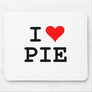 I love pie (black lettering) mouse pad