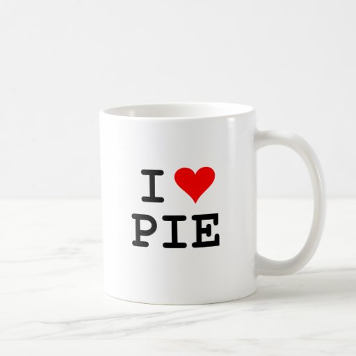 I love pie (black lettering) classic white coffee mug