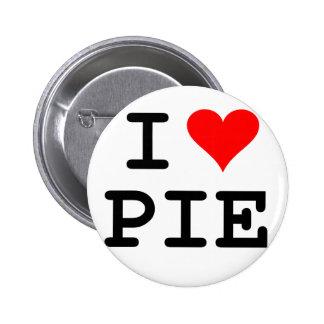 I love pie (black lettering) pinback button