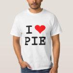 I love pie (black lettering) tee shirt