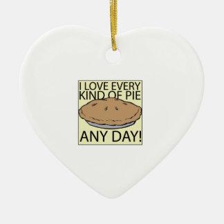 I Love Pie Ceramic Ornament