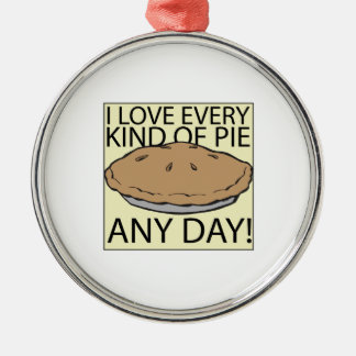 I Love Pie Ornaments