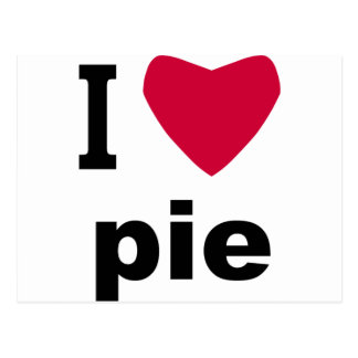 I Love Pie Postcard
