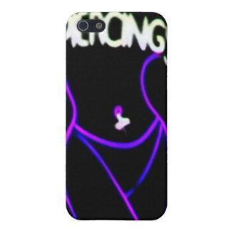 I LOVE PIERCINGS Purple Neon Lady iPhone 4 case
