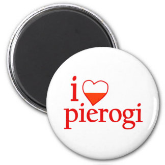 I Love Pierogi 2 Inch Round Magnet
