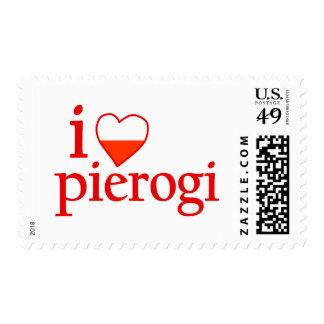 I Love Pierogi Postage Stamp