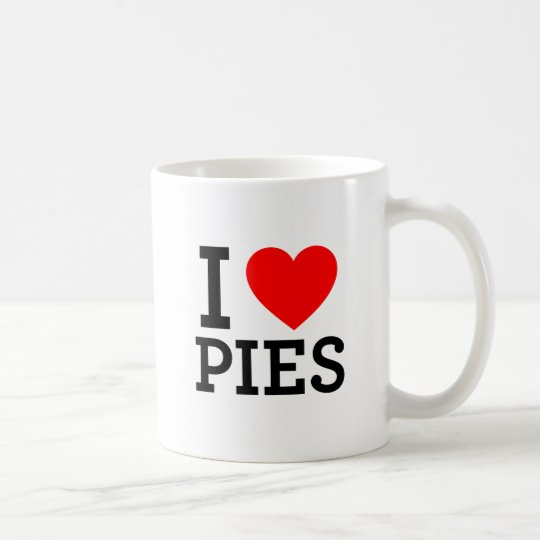 I Love Pies Coffee Mug