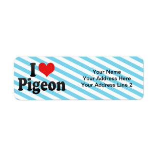I Love Pigeon Return Address Label