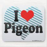 I Love Pigeon Mousepads