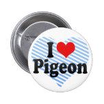 I Love Pigeon Pinback Button