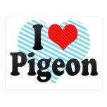 I Love Pigeon Postcard