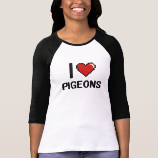 I love Pigeons Digital Design Shirt