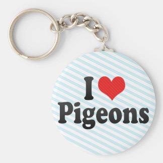 I Love Pigeons Keychain