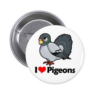 I Love Pigeons Pinback Button