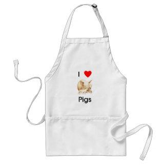 I love pigs Apron