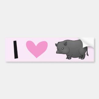 I Love Pigs Bumper Sticker