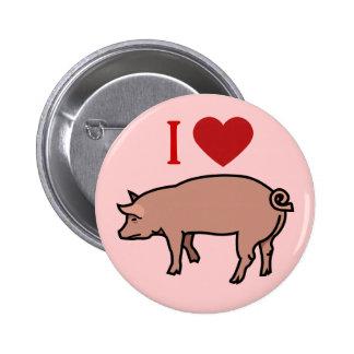 I LOVE PIGS 2 INCH ROUND BUTTON
