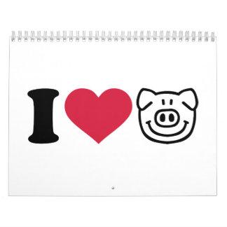 I love Pigs Calendar