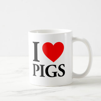 I Love Pigs Coffee Mug