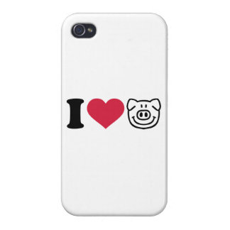 I love Pigs Cover For iPhone 4