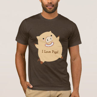 I Love Pigs (fat pig) T-Shirt